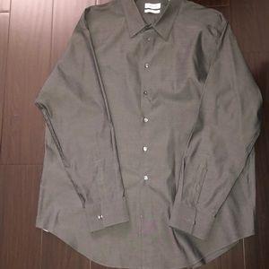 Calvin Klein Mens regular fit dress shirt all grey